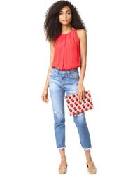 Clare V. - Multicolor Supreme Flat Clutch - Lyst