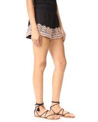 Chloe Oliver - Black Brazillian Night Smocked Shorts - Lyst