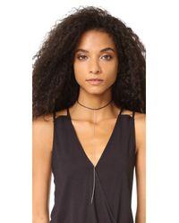 Cloverpost - Black Escape Leather Choker Necklace - Lyst
