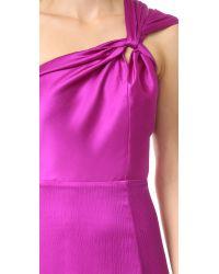 Cushnie et Ochs - Blue One Shoulder Dress - Lyst