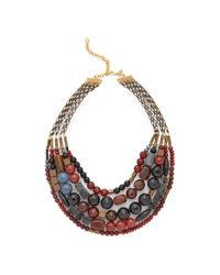 David Aubrey - Multicolor Hailey Layered Necklace - Lyst