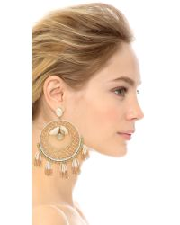 Deepa Gurnani - Metallic Denise Earrings - Lyst