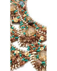 Deepa Gurnani   Metallic Deepa By Rizka Necklace   Lyst