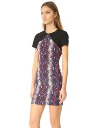 Diane von Furstenberg - Blue Printed Tailored Dress - Lyst