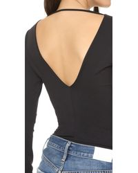 David Lerner - Black Plunging Bodysuit - Lyst
