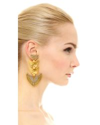 Erickson Beamon - Metallic Danielle Earrings - Lyst