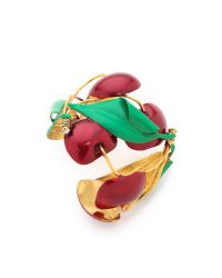 Erickson Beamon | Green Cherry Pie Cuff Bracelet | Lyst