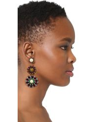 Erickson Beamon - Multicolor Imitation Pearl Safari Disc Earrings - Lyst