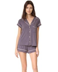 Eberjey | Purple Gisele Short Pj Set | Lyst