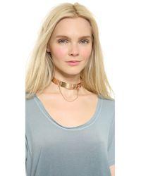 Eddie Borgo - Metallic Safety Chain Choker Necklace - Lyst