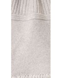 Edun - Gray Plush Wool Chunk Scarf - Lyst