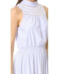 English Factory - Blue Mock Neck Dress - Lyst
