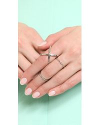 Elizabeth and James - Metallic Windrose Ring - Lyst