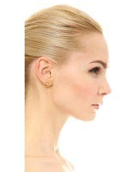 Elizabeth and James - Metallic Moore Stud Earrings - Lyst