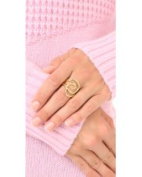 Elizabeth and James - Metallic Ellie Ring - Lyst