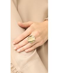 Elizabeth and James - Metallic Montero Ring - Lyst