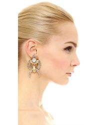 Elizabeth Cole - Metallic Jessica Earrings - Lyst