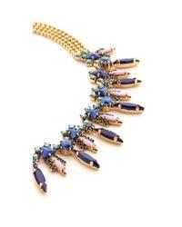 Elizabeth Cole - Blue Talitha Choker Necklace - Lyst