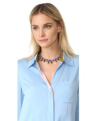 Elizabeth Cole - Blue Talitha Choker Necklace - Lyst