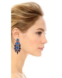 Elizabeth Cole - Blue Carmella Earrings - Lyst