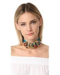 Elizabeth Cole | Multicolor Halia Choker Necklace | Lyst