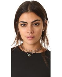 Ela Rae - Brown Multi Choker Necklace - Lyst