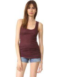 Enza Costa - Blue Bold Ribbed Tank - Lyst