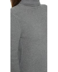 525 America - Gray Cotton Shaker Sweater Dress - Lyst