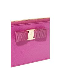 Ferragamo - Pink Miss Vara Bow Coin Pouch - Lyst