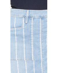 FRAME - Blue Le Francoise Skirt - Lyst