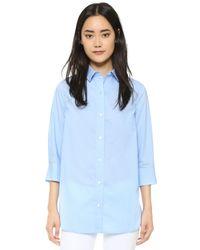 FRAME - Blue Le Poplin Shirt - Lyst