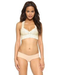 Free People | White Lace Racer Back Bra | Lyst