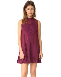 Free People   Purple Angel Lace Dress   Lyst