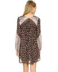 Free People - Black Rain Or Shine Printed Dress - Lyst