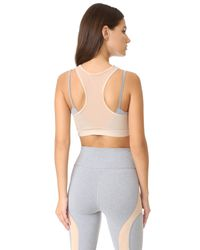 Free People - Gray Movement Fly Girl Bra - Lyst
