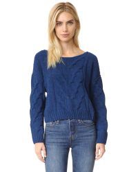 Free People | Blue Sticks And Stones Pullover | Lyst