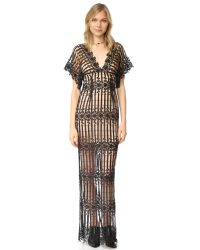 Free People | Black Night Whispers Lace Maxi Dress | Lyst