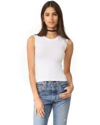 Free People | White Cropped Seamless Muscle Tank | Lyst