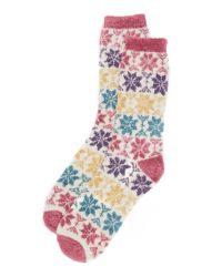 Free People | Blue Orian Snowflake Slipper Socks | Lyst