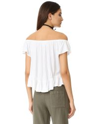Free People - White Mint Julep Tee - Lyst