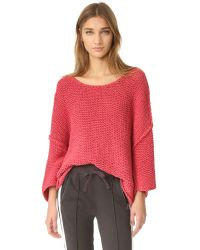 Free People | Pink Halo Pullover | Lyst