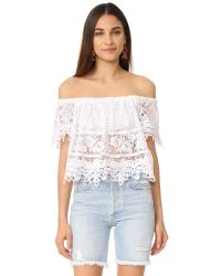 Free People | White Sweet Dreams Lace Crop Top | Lyst