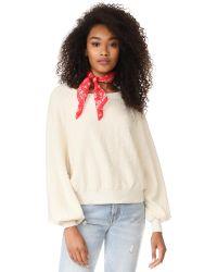 Free People | White Found My Friend Sweatshirt | Lyst