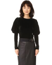 Georgia Alice | Black Puff Sleeve Top | Lyst