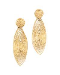 Gas Bijoux Gray Long Wave Earrings