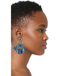 Gas Bijoux | Blue Eventail Earrings | Lyst