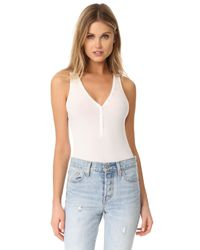 Getting Back to Square One   Multicolor Button Front Bodysuit   Lyst