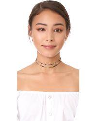 Gorjana - Metallic Marlow Beaded Choker Necklace - Lyst