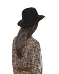 Hat Attack - Black Wool Felt Avery Fedora Hat - Lyst
