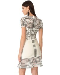 Hervé Léger - Multicolor Tamera Short Sleeve Dress - Lyst